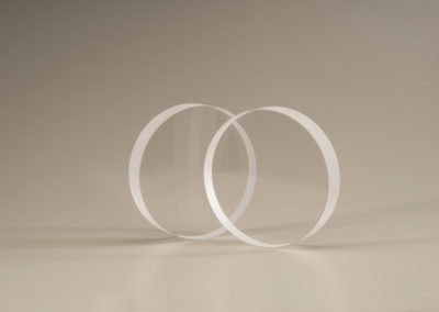 Clear Fused Quartz Discs