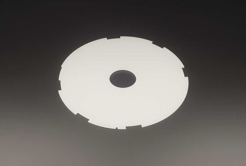 Machined Opaque Fused Quartz Discs Silica Industrial Glass